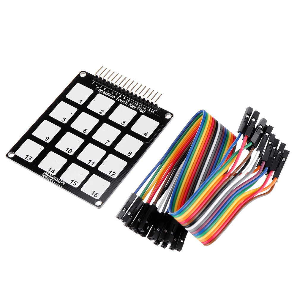 10pcs 16 Keys Capacitive Touch Key Pad Module RobotDyn for Arduino - products that work with official for Arduino boards