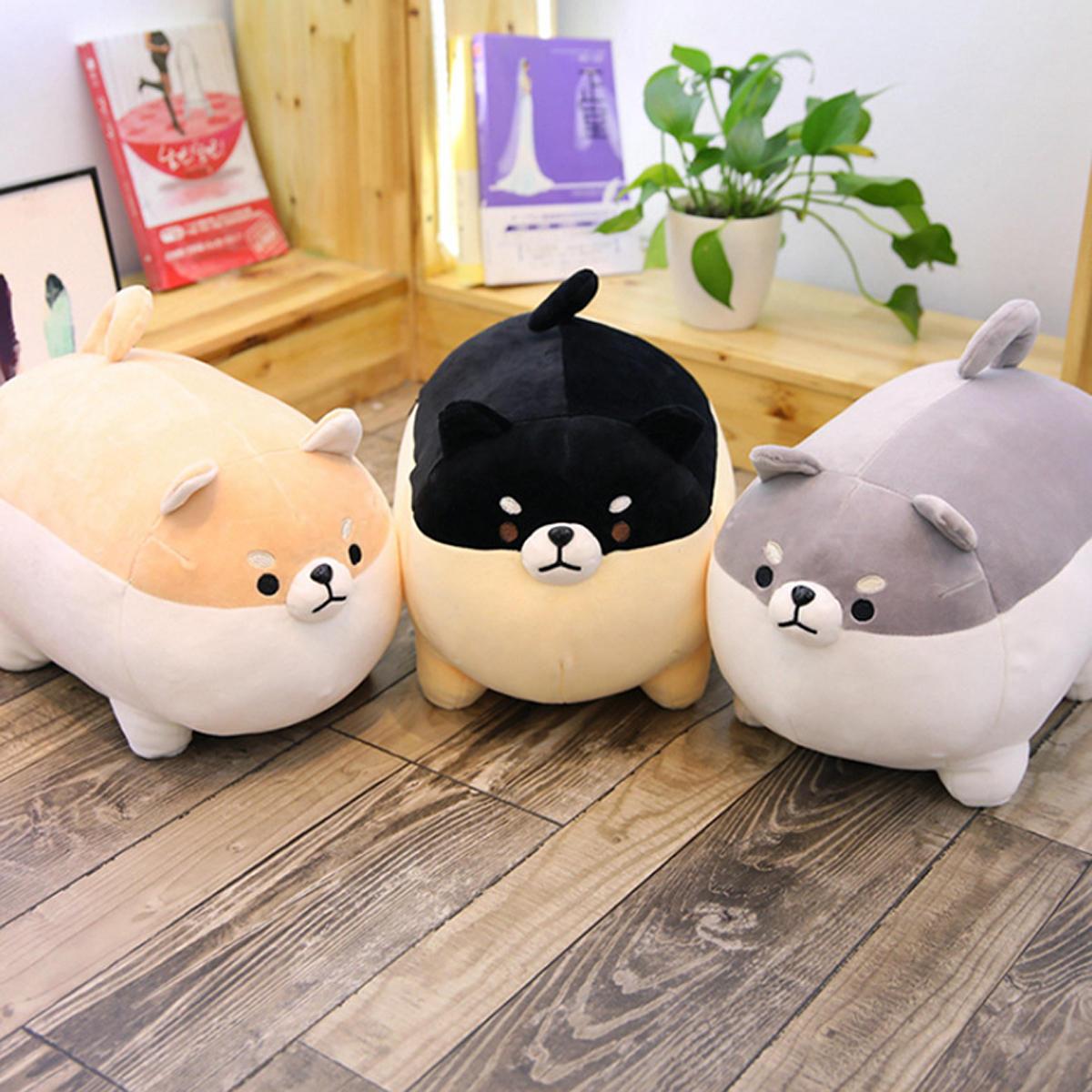 40/50CM Cute Fat Shiba Inu Corgi Doll Pillow Dog Plush Stuffed Kawaii