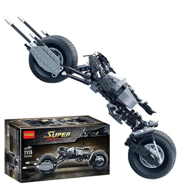 Decool 7115 338pcs רכב אופנוע דגם בניית בלוקים צעצועים ערכות DIY צעצועים עם האריזה המקורית