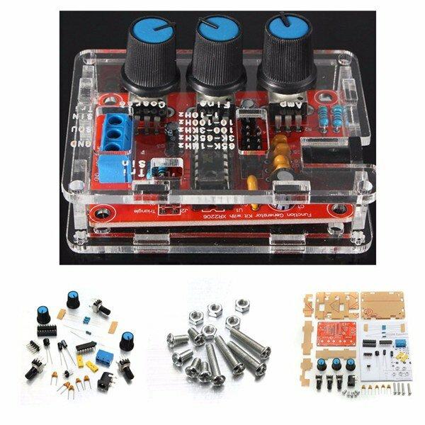 9-12V XR2206 Function Signal Generator Module DIY Kit Sine//Triangle//Square Wave