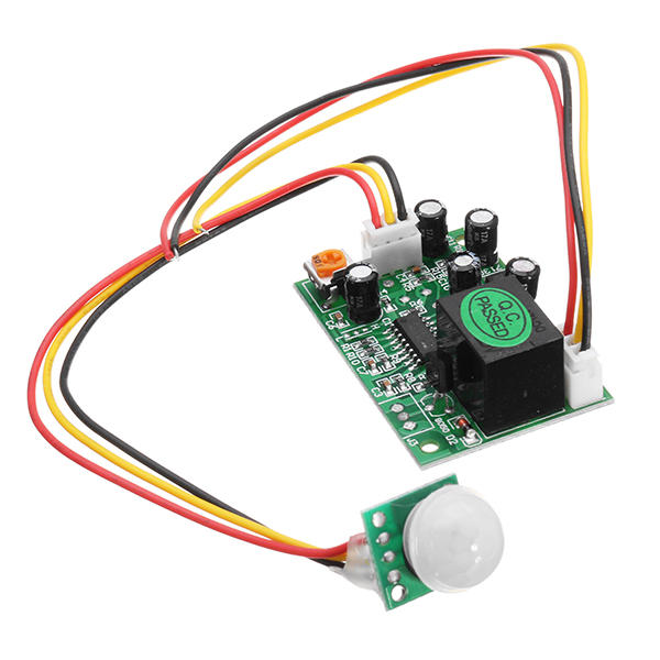 3pcs DC 12V 50uA 3-Wire Human Body Induction PIR IR Pyroelectric Infrared Sensor Module Relay Control Output Sensing Distance 3-5m Load Capacity 100W High Level / Low Level