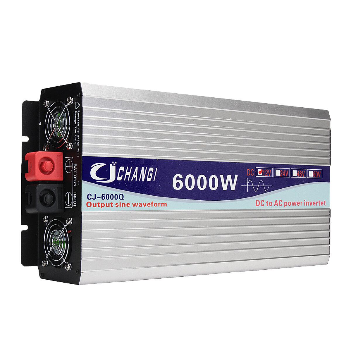 Layar Cerdas Murni Sine Wave Power Inverter 12V / 24V Untuk 220V 3000W / 4000W / 5000W / 6000W Converter