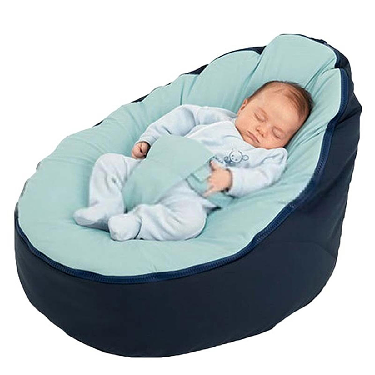 Awesome Canvas Blue Vine Baby Infant Bean Bag Snuggle Bed C Without Filling Lazy Sofa Pdpeps Interior Chair Design Pdpepsorg