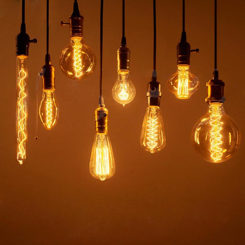 Vintage Edison Bulbs E27 40W/60W AC 220V Incandescent Lamp Retro Filament Light Bulb