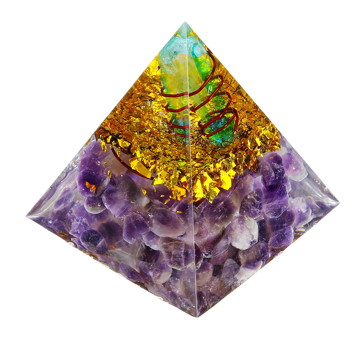 Himalayas Stone Decorations Orgone Pyramid Energy Generator Tower Home Reiki Healing Crystal