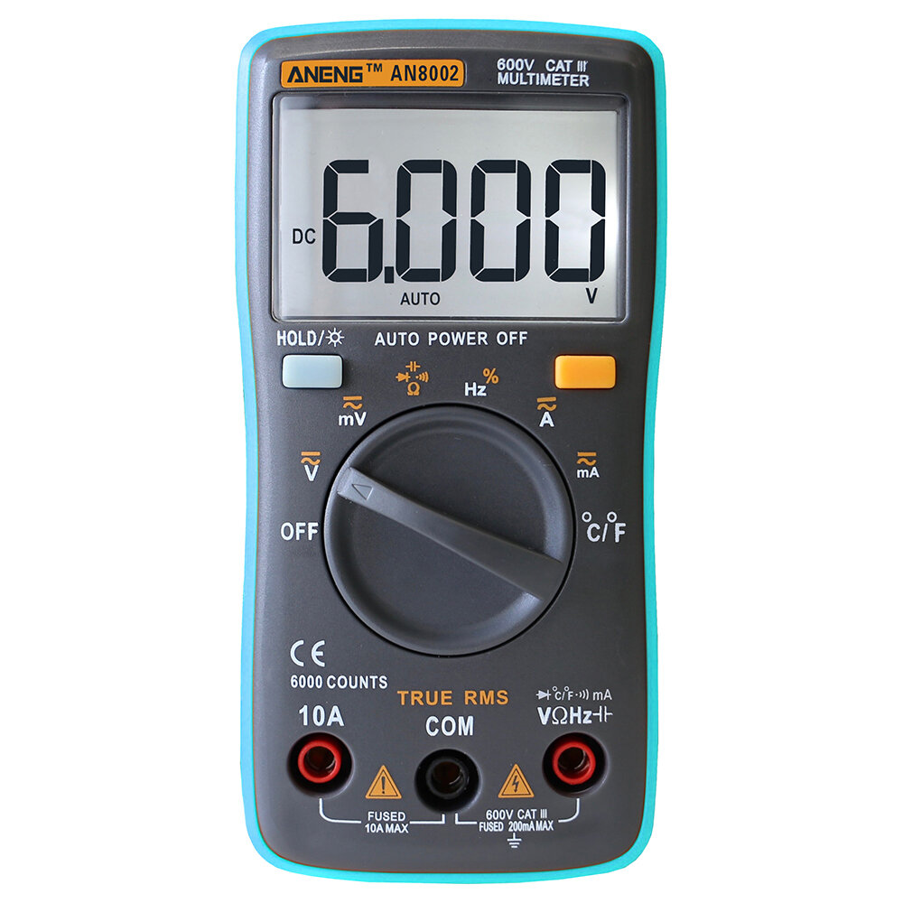 ANENG AN8002 Digital True RMS 6000 Counts Multimeter AC/DC Current Voltage Frequency Resistance Temperature Tester ℃/℉