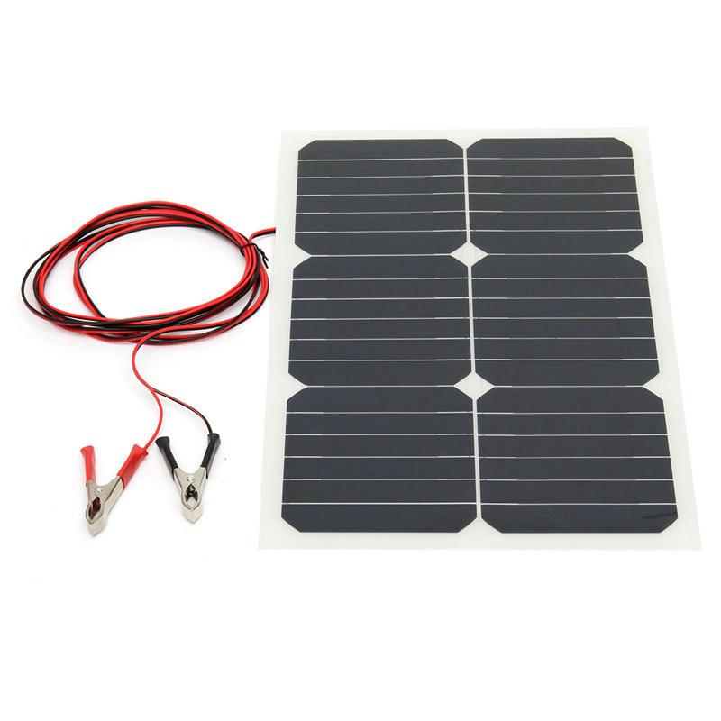 12V 20W 42x28x0.25cm Semi Flexible Sunpower Chip Solar Panel With 3m Solar Panel Wiring on