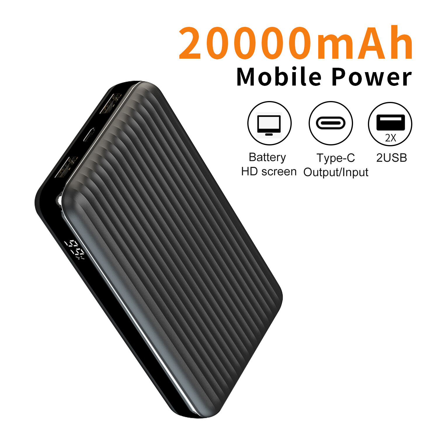 Bakeey PT-74820000mAhデュアルUSBQC3.0 + PD 100W PPS Quick Charge Power Bank for Samsung Galaxy S21 Note S20 ultra Huawei Mate40 P50 OnePlus 9 Pro for…