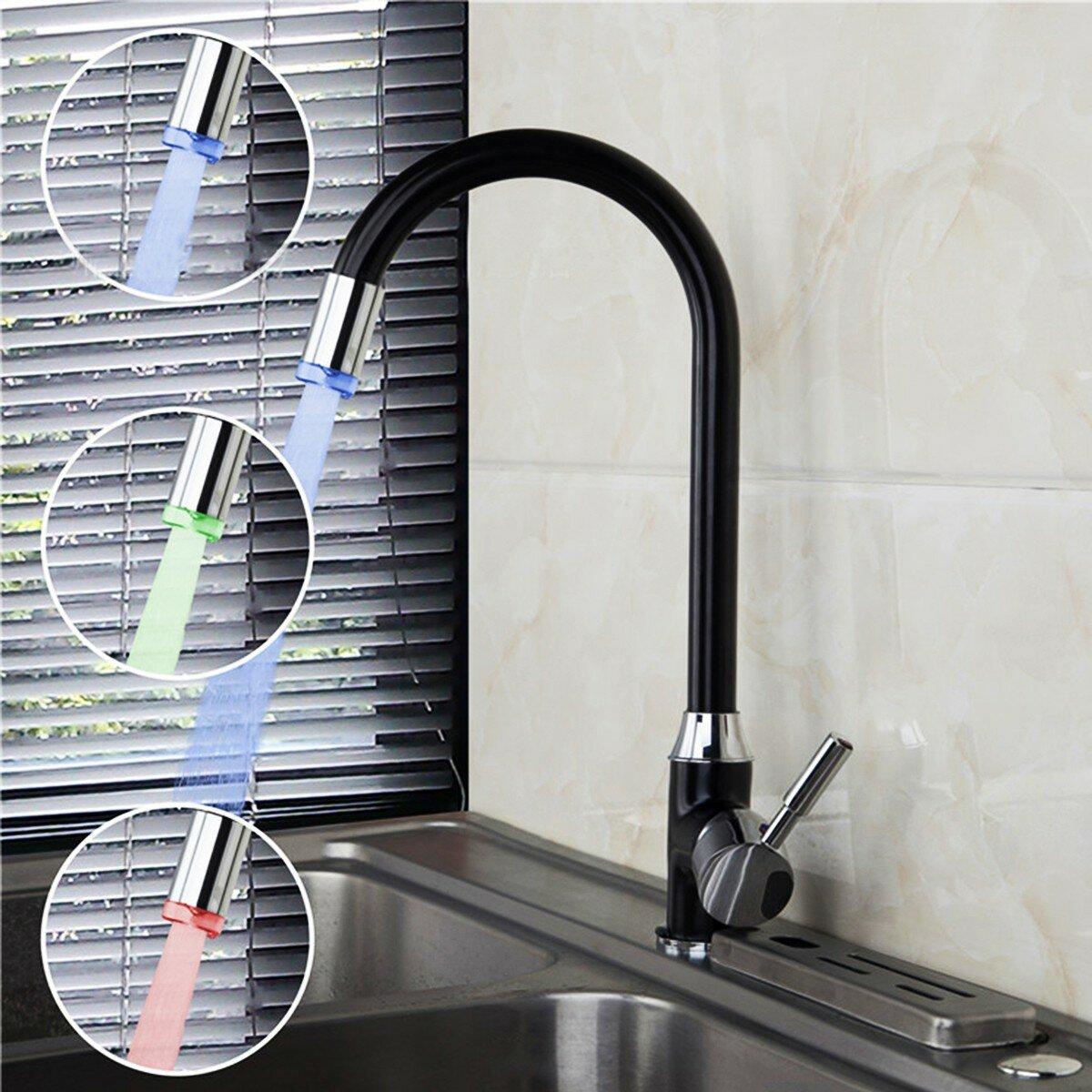 Black Plating Kitchen Sink Hot Cold