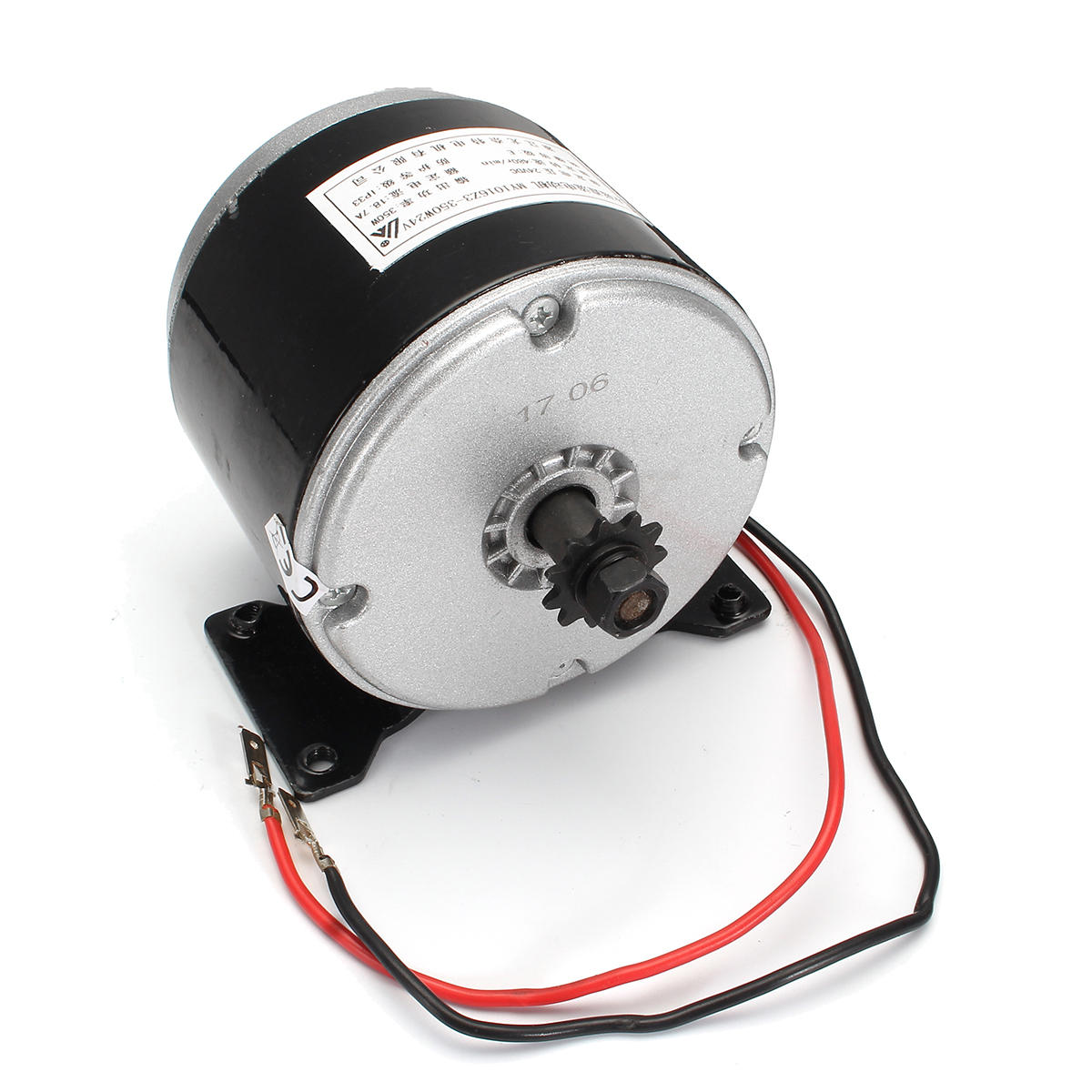 350W 24V 2750 RPM ZY1016 Electric Motor E-bike Brushed Scooter Electric Motor