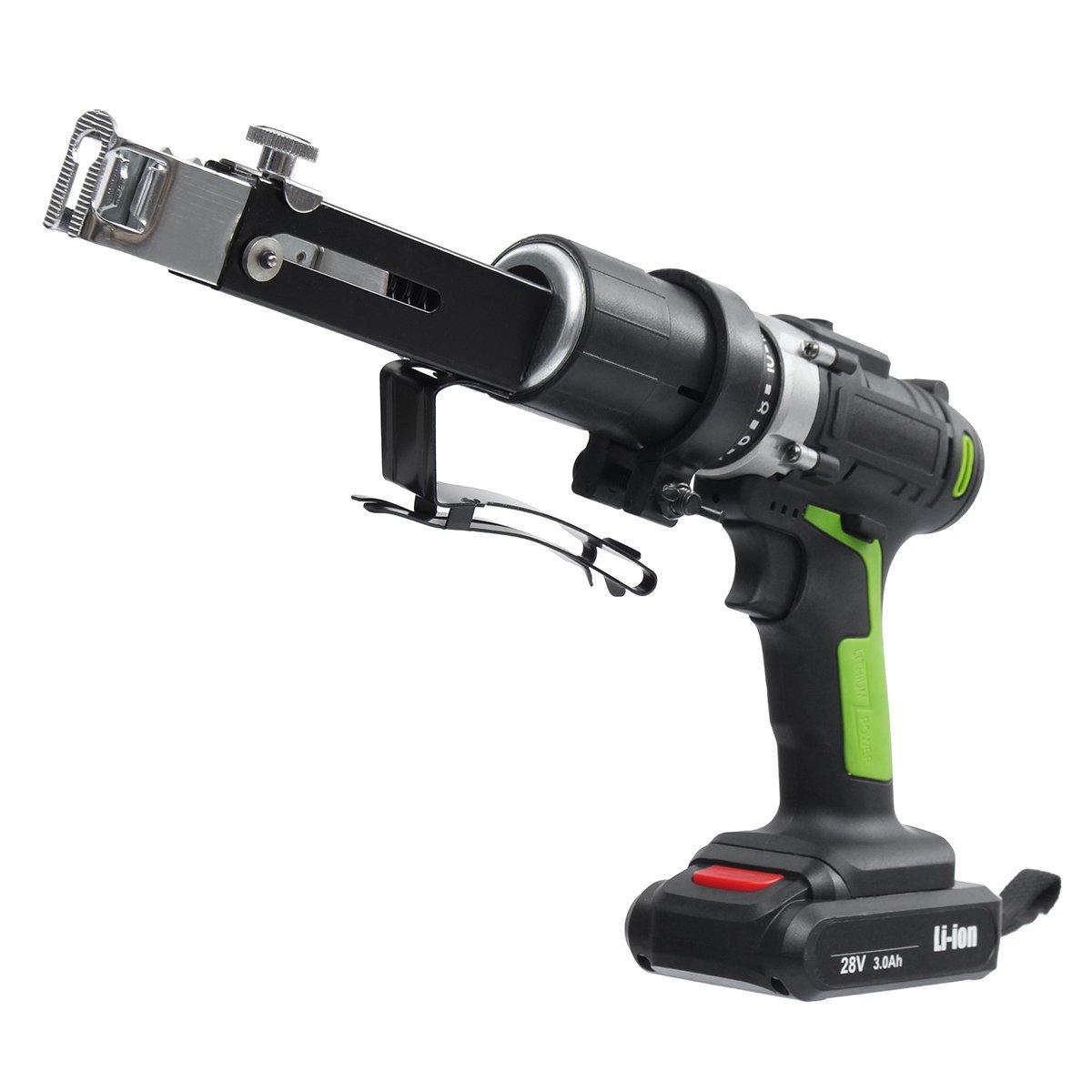 28V Electric Chain Drill Power Drills Chain Gun Rechargable Elecreic Drill 2 Batteries 1 Charger