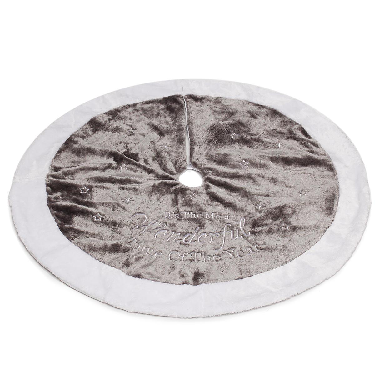 Decorazioni per massaggiatori manuali per albero di Natale da 90 cm Cuscino per pavimenti di peluche