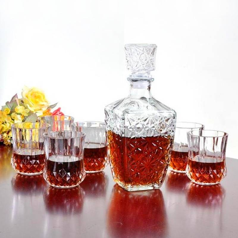 Whiskey Wine Drinking Glass Decanter Wine Clear Bottle Carafe