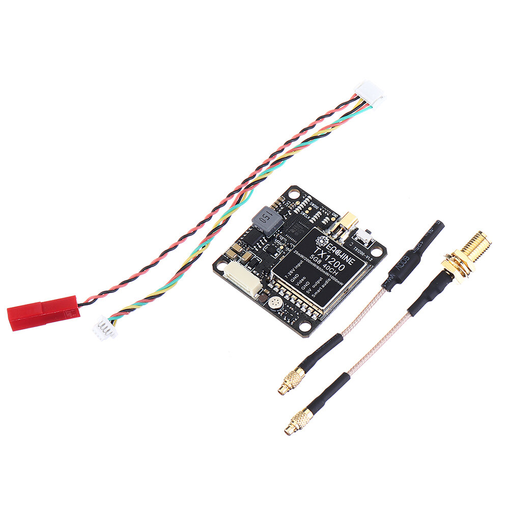 Eachine TX1200 25/200/600/1000mW 5.8GHz 40CH FPV Transmitter LED Display Support Smart Audio OSD Pitmode MIC