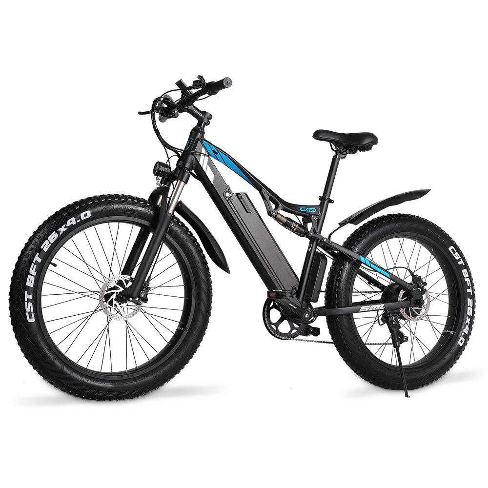 [EU DIRECT] GUNAI MX03 1000W 48V 17AH 26 Inch Electric Bicycle 40km/h Max Speed 90km Mileage 150kg Max Load