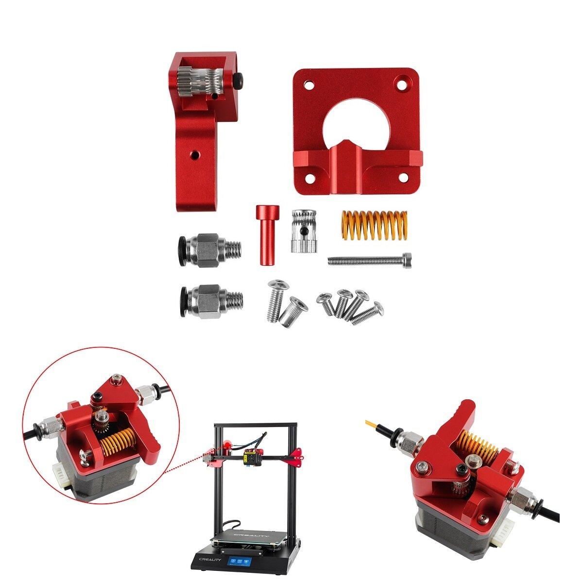 Yükseltilmiş Alüminyum Çift Dişli Kasnak Çift Sürücü Extruder Kit Creality CR-10/CR-10S/CR-10S Pro/Ender-3/Ender-3 Pro 3D Yazıcı