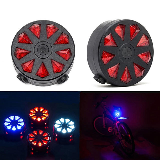 Bicycle USB LED Bike Rear Light Taillight Cycling Safety Warning Lamp Waterproof