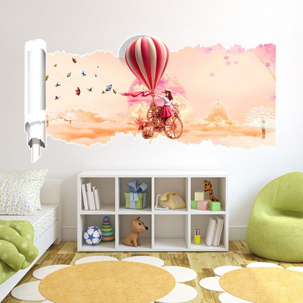 23X47 Inches PAG 3D Wall Sticker Broken Paper Series I Living Room Home Wall Decoration