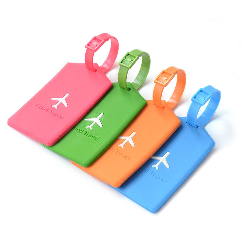 KCASA KC-LP09 Silicone Travel Luggage Tags Colorful Silicone Suitcase Label Travel Accessories фото