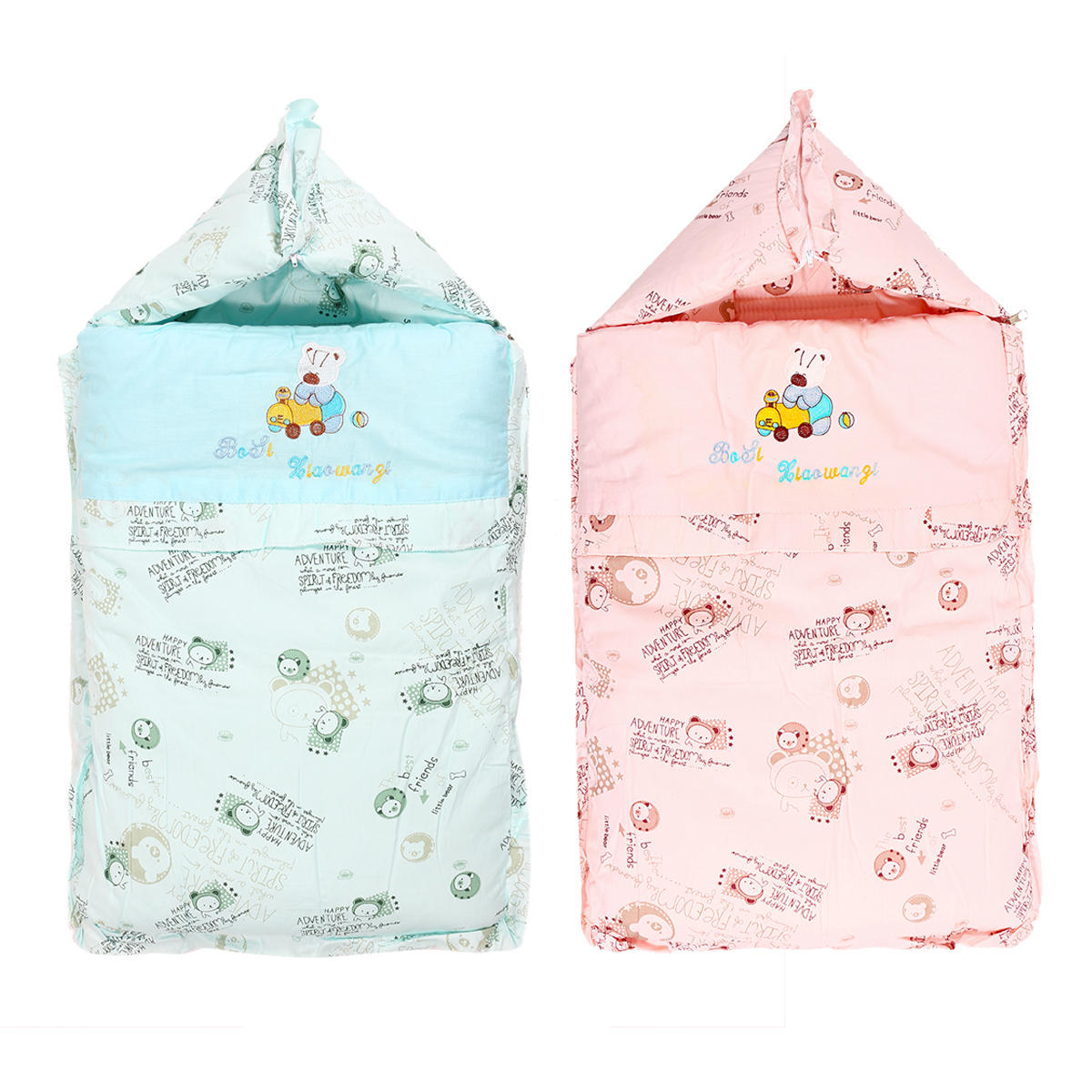 Newborn Baby Infant Winter Swaddle Stroller Wrap Blanket Warm Sleeping Bag Thick
