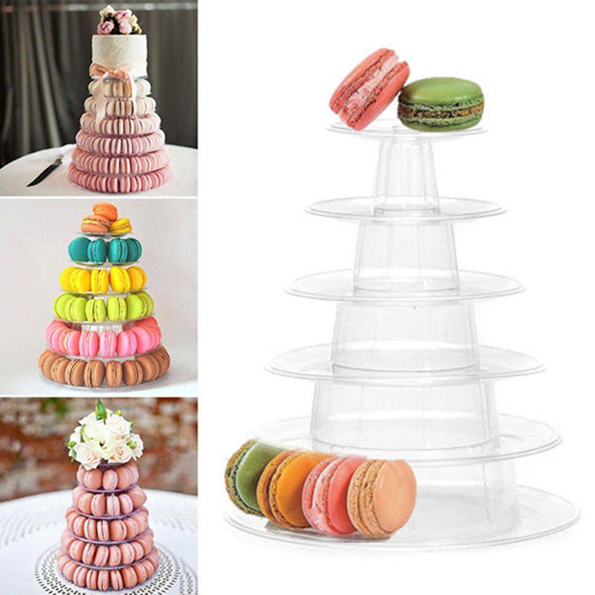 6 Tier Round Dessert Stand Cupcake Holder Clear Acrylic Birthday Wedding Decorations, Banggood  - buy with discount