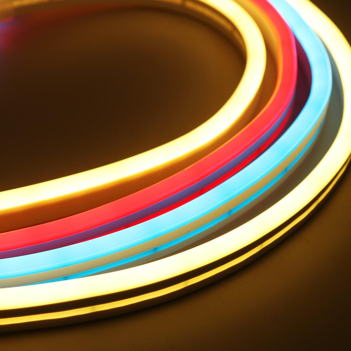 DC12V 5M Flexível Neon EL Fio Luz SMD2835 Impermeável Silicone LED Tira Tubo Lâmpada Decoração Ao Ar Livre