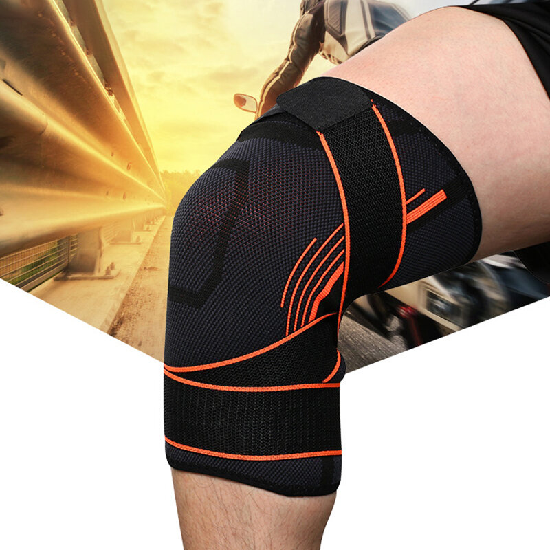 Basketball Football Climbing Wear-resistant Breathable Cover Pressure Belt Knitted Knee Pad