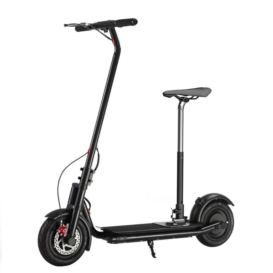 NEXTDRIVE N-7 300W 36V 10.4Ah Foldable Electric Scooter With Saddle For Adults/Kids 32 Km/h Max Speed 18-36 Km Mileage Black