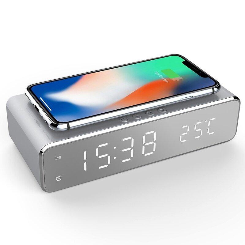 USB Digital LED skrivebord vækkeur med trådløst termometer til Samsung Xiaomi Huawei