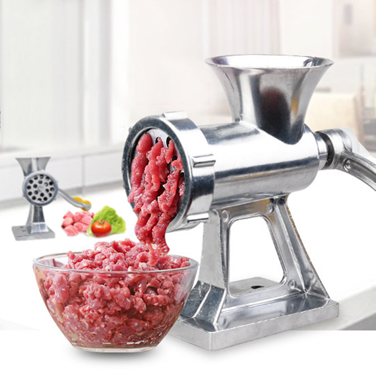 Food Grinders & Mills Healthy Multi-use Mincer Hand Meat Grinder Kitchen Gadget for Meat Sausage Noodle Small Appliances