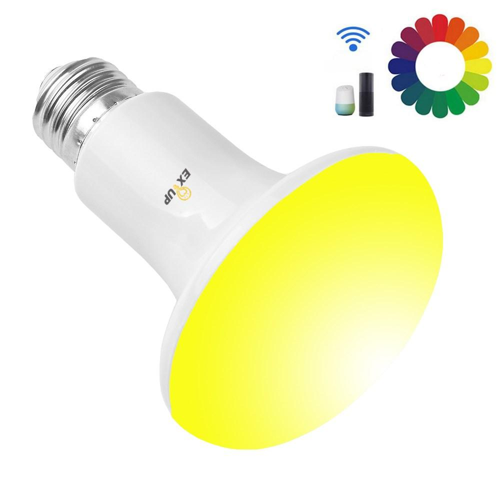 EXUP 10W R80 RGBCW E27 SMD5730 Sound Activated APP Smart LED Bulb Support Amazon Echo Google Home AC85-265V