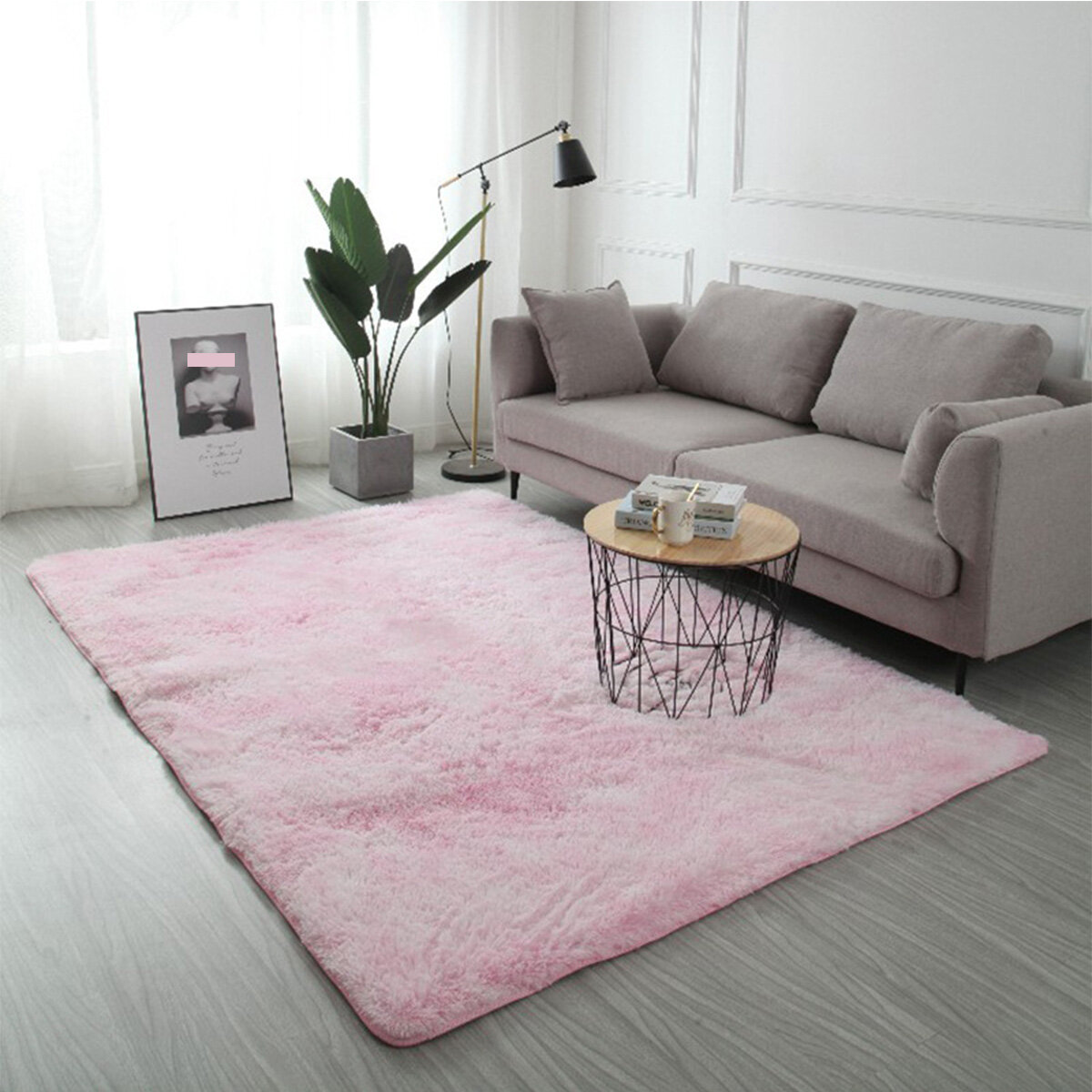 3 Size Pad Dyed Gradient Silk Wool Carpet Super Soft Rug Indoor Modern Shag Area Rug Silky Rugs Bedroom Floor Mat Baby Nursery Rug Children Carpet For
