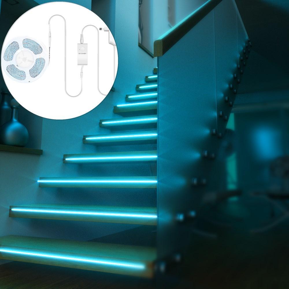 BlitzWolf® BW-LT11 2M RGBW Smart APP Control Strip Light EU Plug Kit + 3PCS 1M LED Strip Light Extension Plus