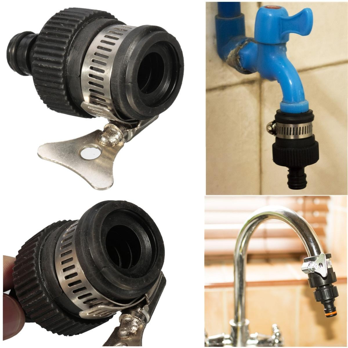 Universal 13-17mm Tap Connector Faucet Adapter Mixer Kitchen Garden Hose Pipe Fitting Nozzle