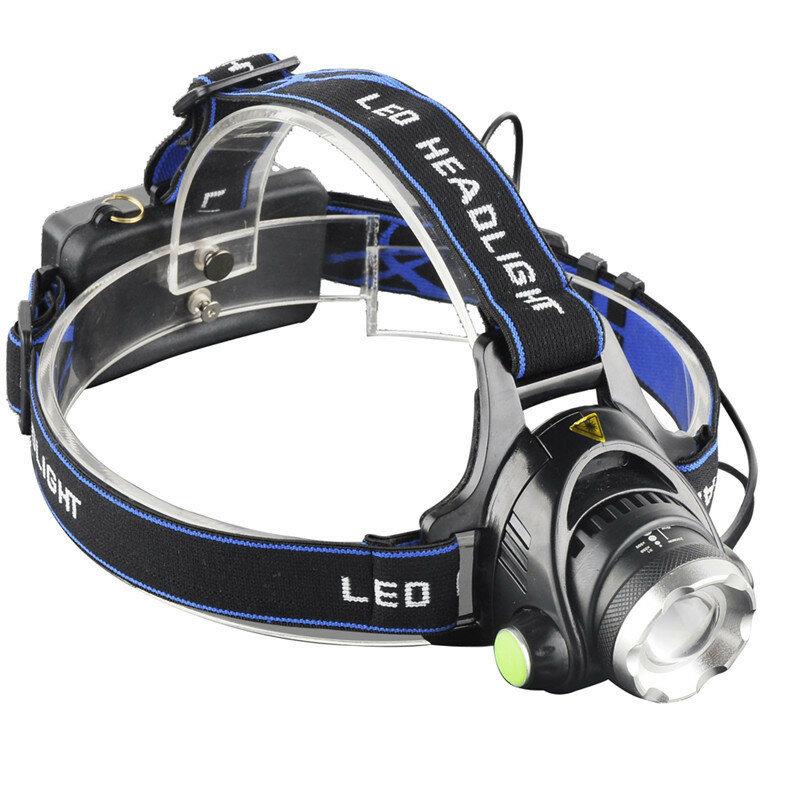 XANES® 568D 650LM T6 LED HeadLamp Водонепроницаемы 3 режима телескопический зум перезаряжаемый ходовой Кемпинг Велоспорт
