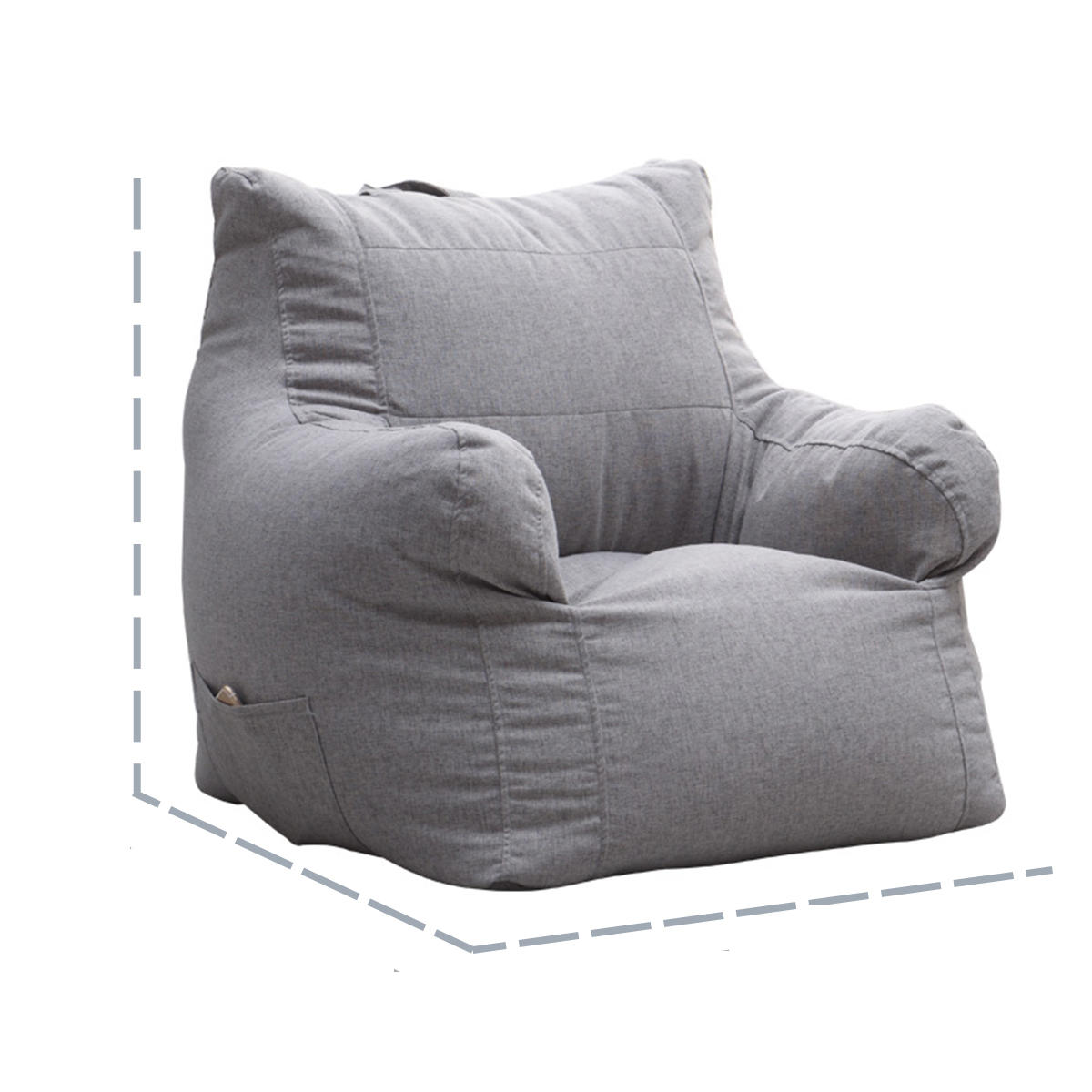 Armchair Bean Bag Chair Cover Multicolor Beanbag Sofa Arm Cover Indoor Lazy  Sofa Portable
