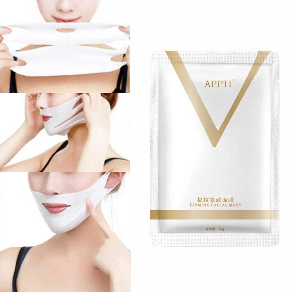 V-Shaped Face Mask Firming Face-Lifting Ear Mask Moisturizing Anti-Wrinkle Mask