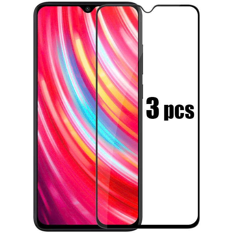 BAKEEY 3pcs Anti-explosion Full Cover Tempered Glass Screen Protector for Xiaomi Redmi Note 8 Pro