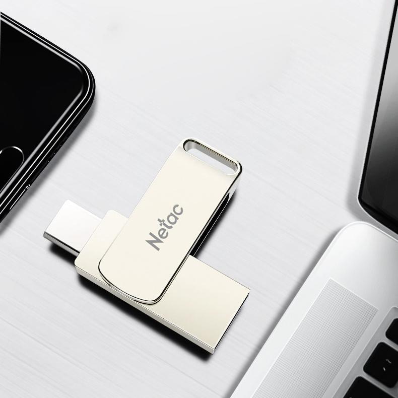 Original Netac Type-C USB-C USB 3.0 64GB 98M/s High Speed OTG Flash Drive Pen Drive For Smart Phone Tablet Laptop MacBook Speaker TV
