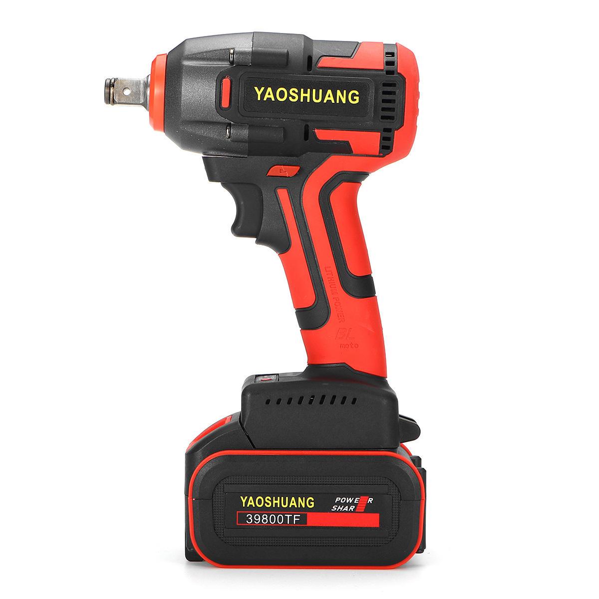 110V-220V 18000mAh/27000mAh/33000mAh Electric Cordless Brushless Impact Wrench Drill Power Repair Tools Kit