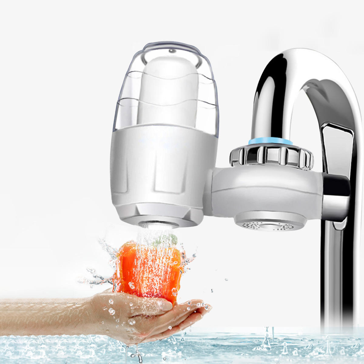 7 Washable Filters Faucet Water Purifier Mount Tap Filtration Home Kitchen Sink