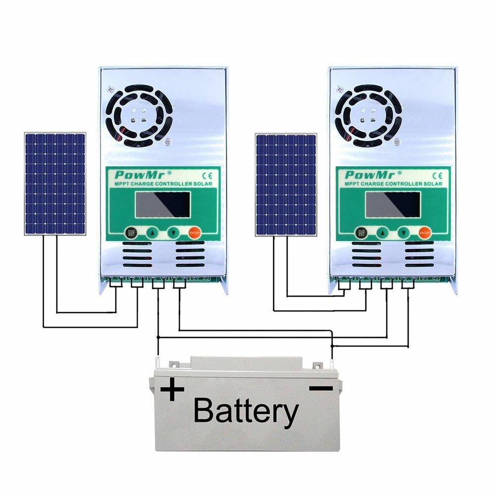 PowMr MPPT 60A Solar Charge and Discharge Controller 12V 24V 36V 48V Auto for Max PV 190VDC Lead Acid Lithium Battery