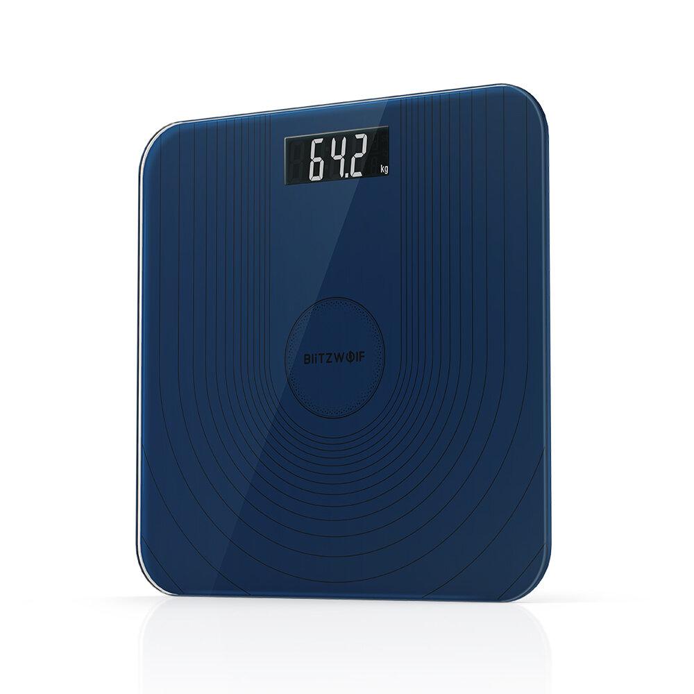 BlitzWolf® BW-SC2 Gulvkrop Smart Elektrisk Digital vægt Sundhedsbalance Skala Hærdet glas LCD-skærm 180 kg / 50 g