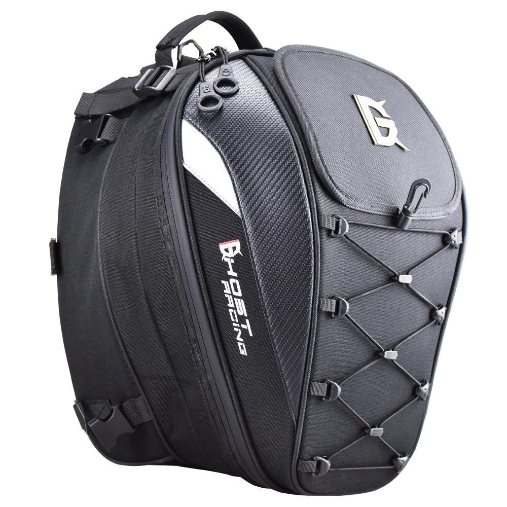 GHOST रेसिंग 10 इंच मोटरसाइकिल रेसिंग हेलमेट बैग पूंछ बैग चिंतनशील सायक्लिंग सामान बड़ा क्षमता काठी