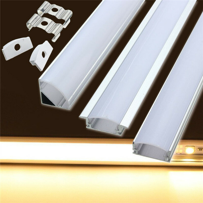 50cm U Yw V Style Aluminum Extrusions Channel Holder For Led Strip Bar Under Cabinet Light