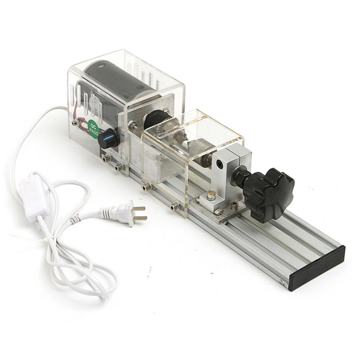 Raitool 350W Mini Lathe Machine Woodworking DIY Lathe Set with Power Adapter