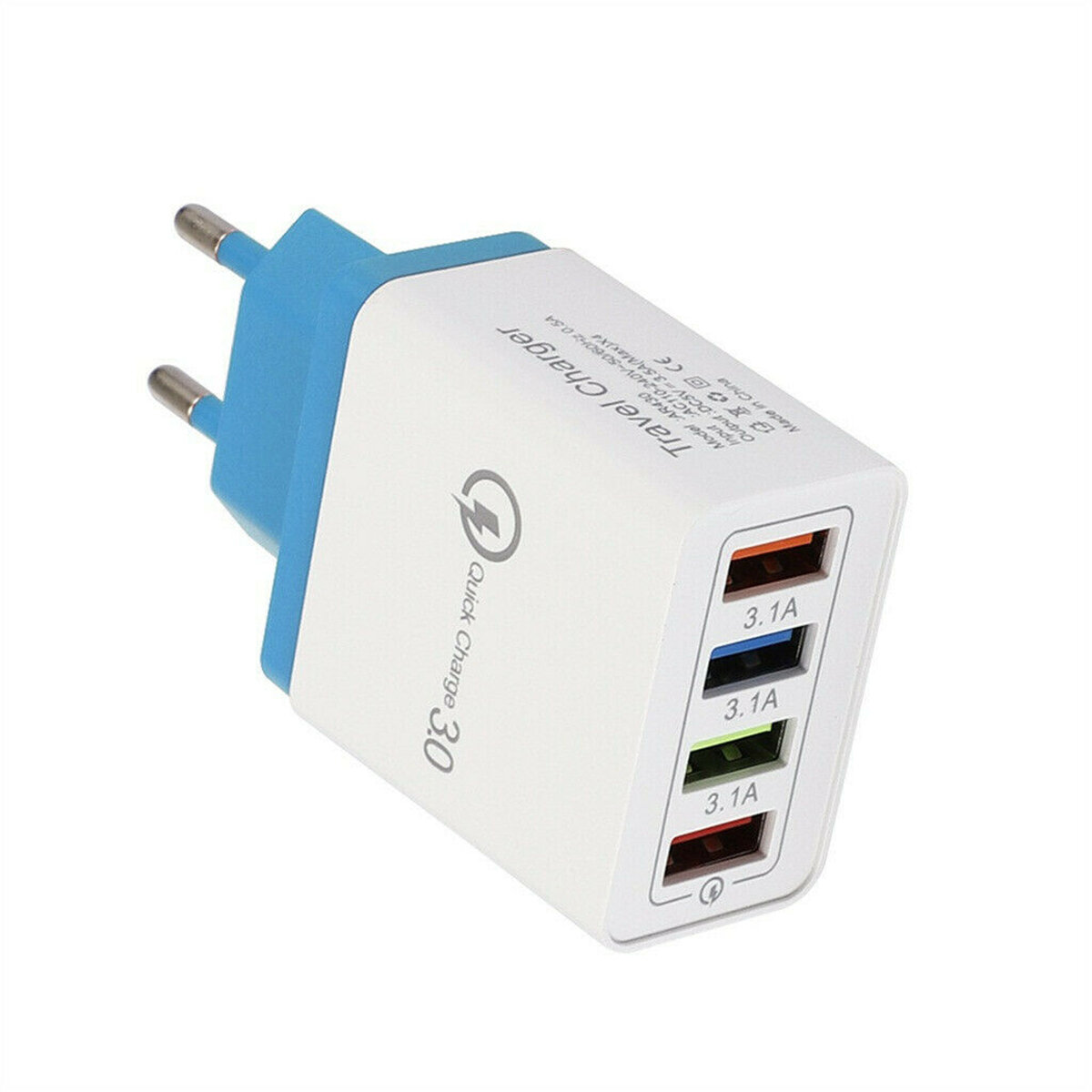 מתאם מטען USB QC3.0 4 יציאות