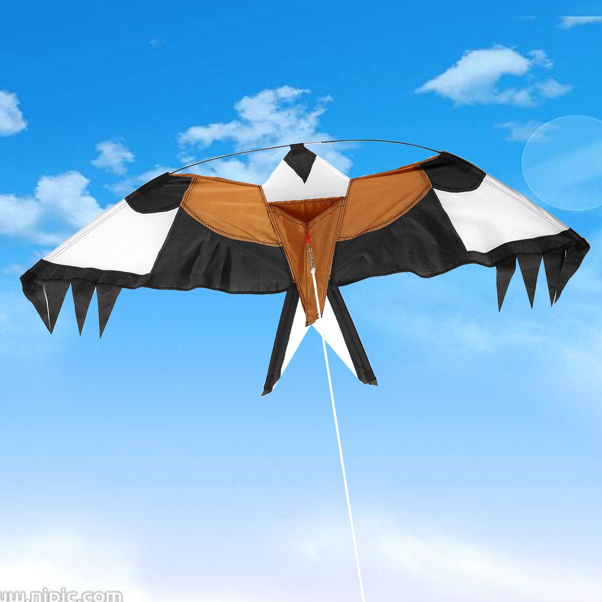 Emulación Flying Hawk Bird Scarer Drive Kite para el jardín de la casa Scarecrow Yard al aire libre Juguetes Flying Kit