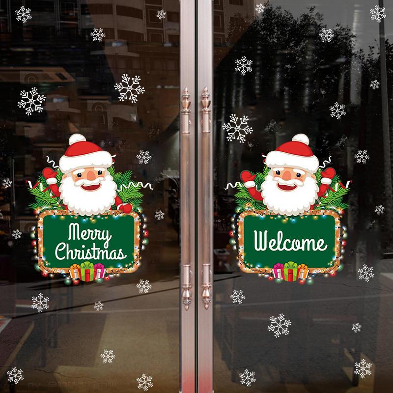 Miico XH7245 Adhesivo navideño Adhesivo de decoración del hogar Adhesivo de ventana y pared Adhesivos decorativos