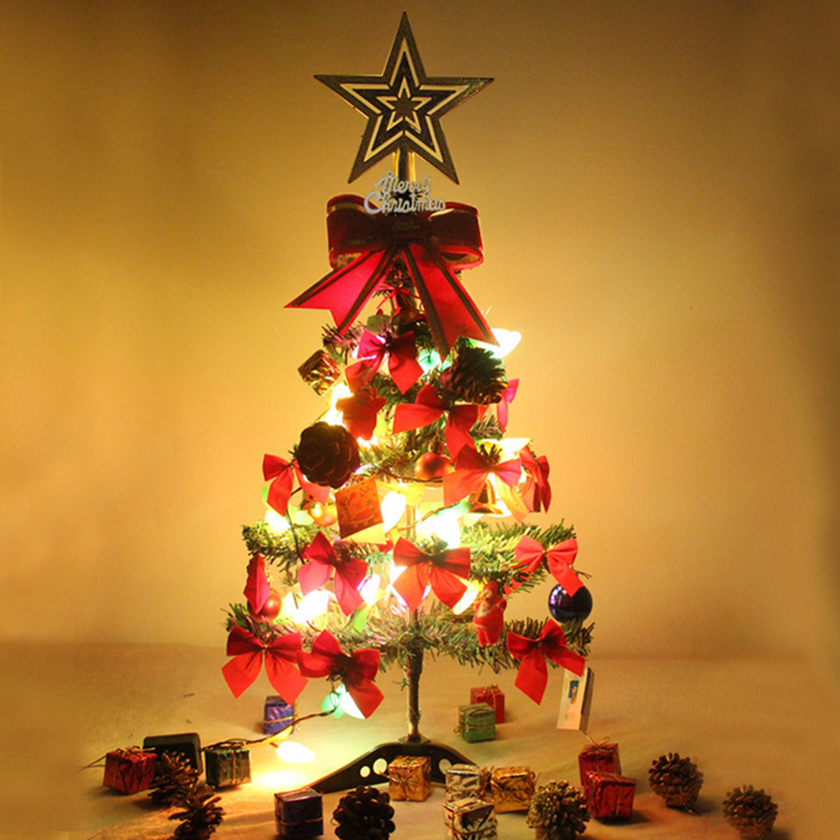2ft 60cm Artificial Pine Traditional Christmas Xmas Tree With Stand Home Decor